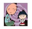 sticker>>Doraemon maruko shinchan