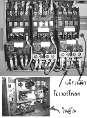 Magnetic contactor ,overload on machine , แม็กเนติก โอเวอร์โหลด