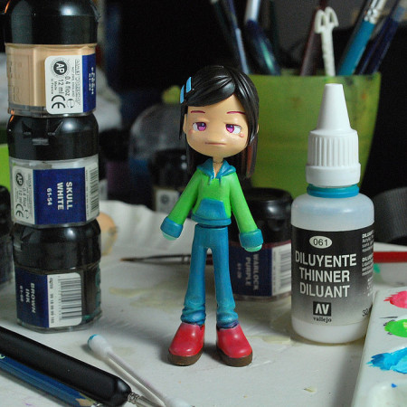ถาพตัวการ์ตูนต้นแบบ ในการแกะโมลด์ซิลิโคน ภาพ โดย alessino ใน Flickr (cc)