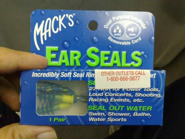 ear seals ที่อุดหูซิลิโคน