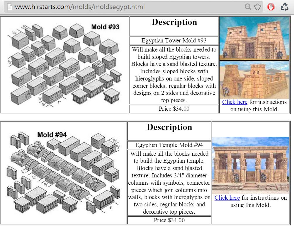 แนะนำให้เป็นแนวทาง เว็บที่ขายของเล่นประเภทนี้ ขายซิลิโคนบล็อก เพื่อนำมาหล่อเป็นประสาทอียิปต์ hirstarts.com