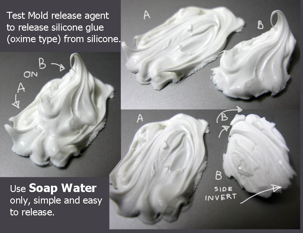 Test_soap_water_release_agent_to_release_silicone_glue_oxime_from_silicone