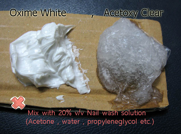 fail_to_mix_silicone_caulk_acetoxy_oxime_with20p_nail_wash_solution