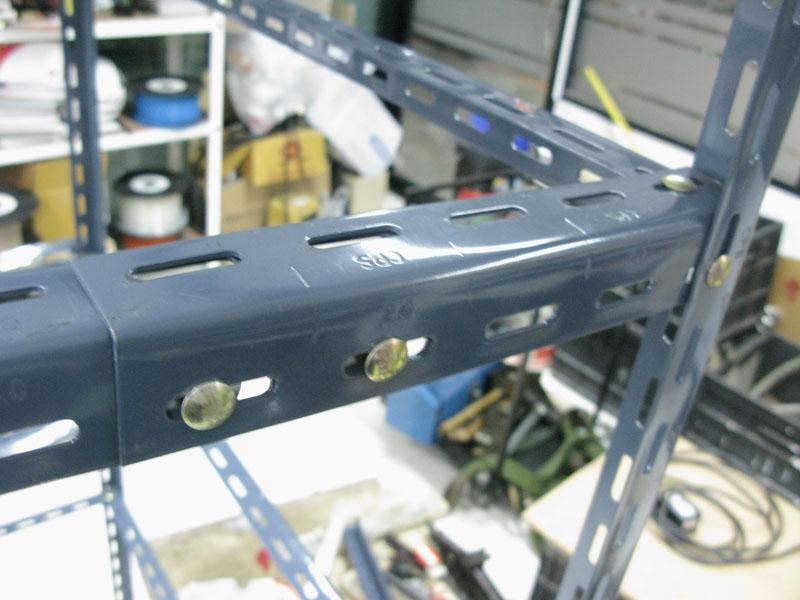 ชั้นเหล็กฉากรู เทคนิคพับ slotted angle shelf-fold technic-assembly2