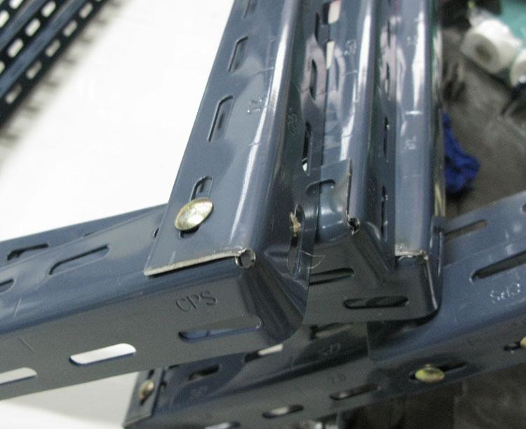 ชั้นเหล็กฉากรู เทคนิคพับ slotted angle shelf-fold technic2