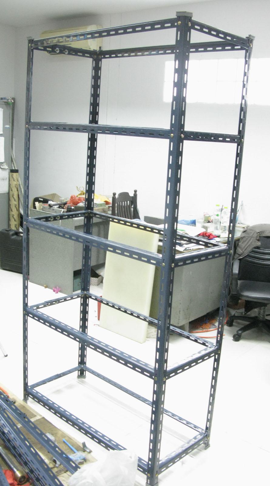ชั้นเหล็กฉากรู เทคนิคพับ slotted angle shelf-fold technic3
